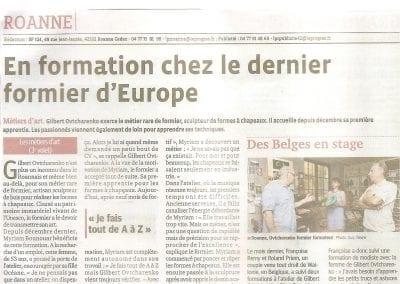 Article Le Progrès - 2012