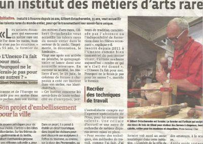 Article Le Progrès - 2013