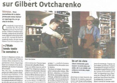Article Le Progrès TF1 - 2012
