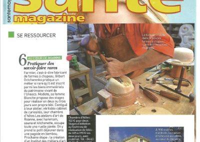 Article Santé Magazine 2013