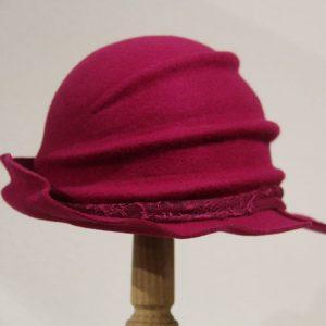 Chapeau femme feutre fuschia