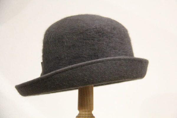 Chapeau femme feutre gris anthracite
