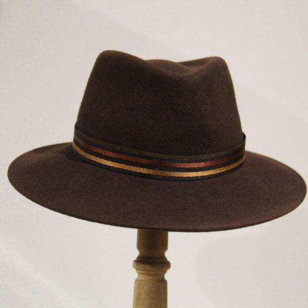 Chapeau mixte feutre chocolat