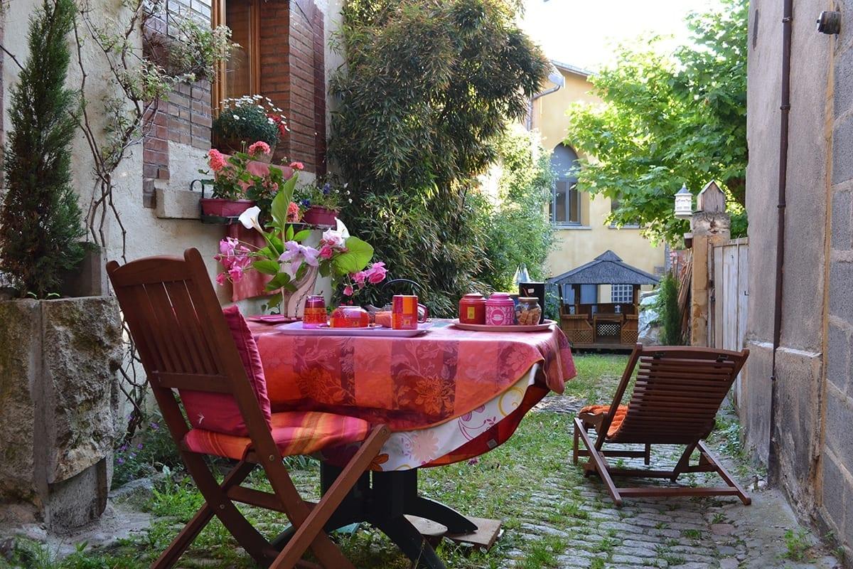 Petit-déjeuner en extérieur